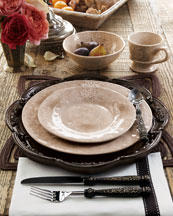 Caff Ceramiche Four Crest Soup/Pasta Bowls