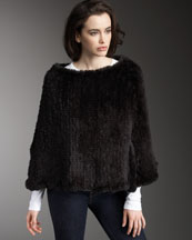 Pologeorgis Knit Rabbit Poncho