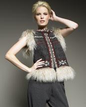 Jean Paul Gaultier Mongolian Fur Vest