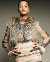 Valentino Fox Fur Vest