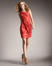 Fendi Organza-Inset Draped Dress