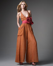 Marc Jacobs Belted Jacquard Jumpsuit