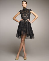 Stella McCartney Lace Full-Skirt Dress