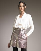 Lanvin Golden Metallic Shorts