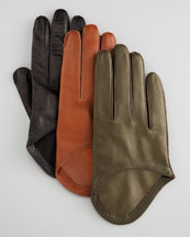 Portolano - 1 Button Three-Quarter Driving Gloves - Neiman Marcus :  eileen fisher rock and republic trina turk chloe