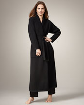 Neiman Marcus Long Cashmere Robe, Black