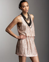 Robert Rodriguez Sequined Tank Dress :  pink dress tank blush
