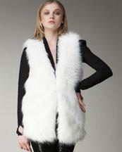 Halston Heritage Long Faux-Fur Vest