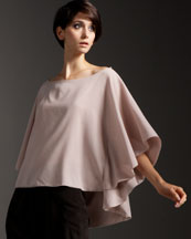 Alice + Olivia Hampton Cape-Sleeve Top :  blouse boho nude alice olivia
