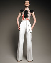 Red Valentino Wide-Leg Pants