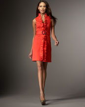 Milly Danielle Ruffle-Front Dress