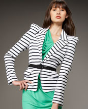 Alice + Olivia Sage Stripe Knit Blazer
