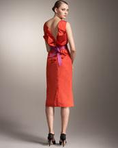 Carolina Herrera Origami-Back Dress