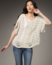 Elizabeth and James Boxy Crochet Pullover