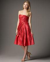 Carmen Marc Valvo Taffeta Party Dress