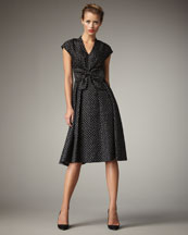 kate spade new york freesia polka-dot dress