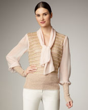 Tory Burch Faith Combo Sweater