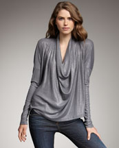 Splendid Shimmery Draped Top