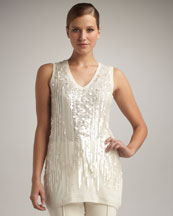 Magaschoni Sequined Sleeveless Tunic