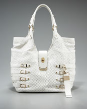 Jimmy Choo Perforated Buckle Tote