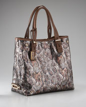 Jimmy Choo Sequined Python-Print Tote
