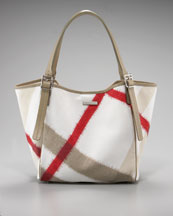 Burberry Ikat Canvas Tote, Trench