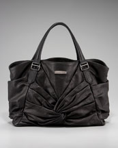 Burberry Knotted Leather Tote, Medium