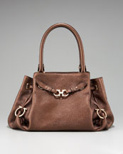 Salvatore Ferragamo Gancini Cross Safari Shoulder Bag