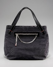 Christian Louboutin Easy Charms Sparkle Tote :  charm bag glam canvas