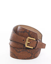 Michael Kors Python Asymmetric Waist Belt