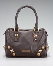 Burberry Mega-Stud Leather Satchel :  studded leather stud studs