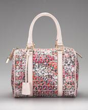 Fendi Floral-Print Zucca Bowler Bag