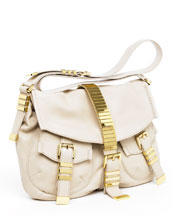 Michael Kors Darrington Flap Hobo, Ecru
