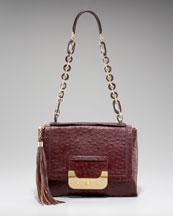 Diane von Furstenberg Harper Ostrich Embossed Daybag