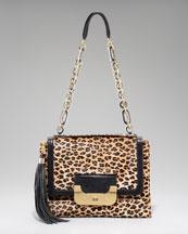 Diane von Furstenberg Harper Leopard-Print Daybag