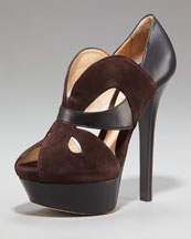 Fendi Butterfly Platform Pump :  platform suede leather fendi