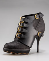 Dior Cavaliere Buckle Bootie :  shoes bootie dior brown