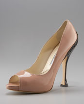 Brian Atwood Patent Spectator Pump :  heels shoe brian atwood shoes