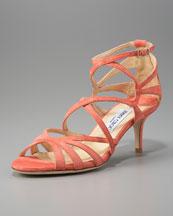 Jimmy Choo Strappy Suede Crisscross Sandal