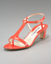 Brian Atwood Patent-Leather Thong Sandal