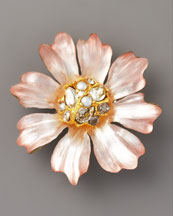 Alexis Bittar Flora Small Daisy Pin, Pink