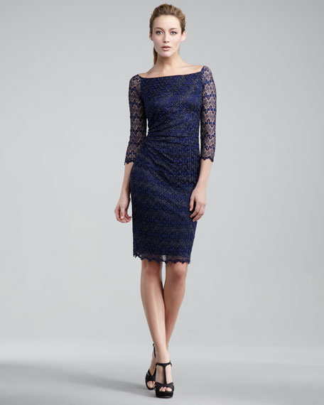 Navy David Meister Mother Of The Bride Dress Gown At