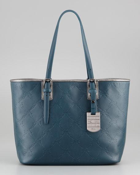 LM Cuir Large Tote Bag, Raspberry