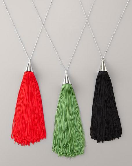 Eddie Borgo silk tassel necklace, $215, available at Neiman Marcus.