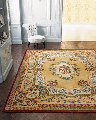 Gold Ribbons Rug