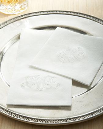 Classic Impressions Monogrammed Paper Napkins & Guest Towels