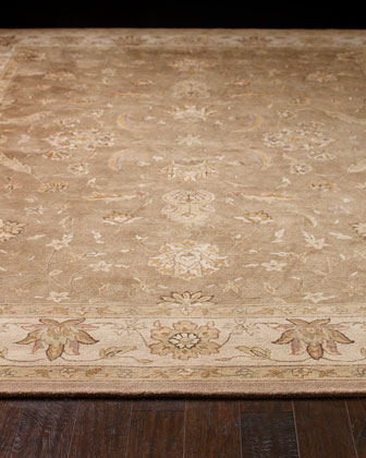 Neutral Bordered Rug