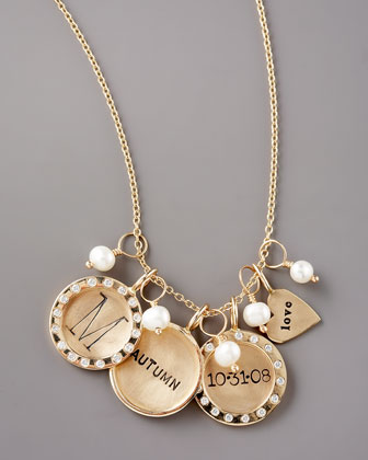 Gold Chain Necklace & Charms