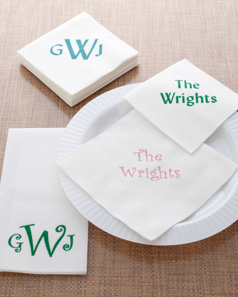 Personalized Napkins & Guest Towels