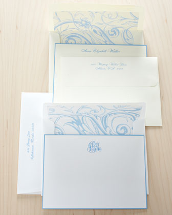 French-Blue-Bordered Notes